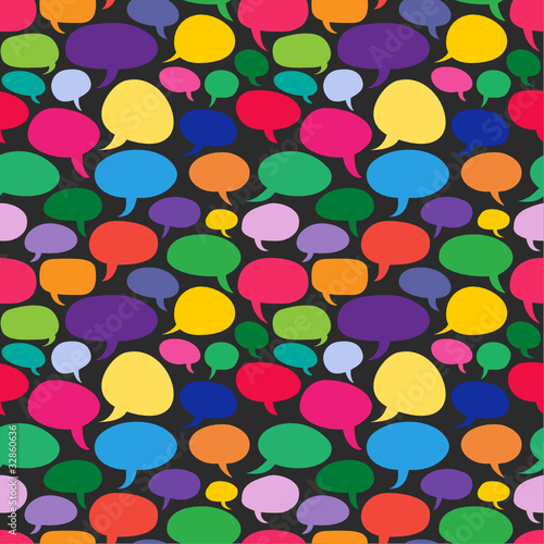 Speech bubbles, seamless background II