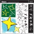 Star elements set (freehand drawing style)
