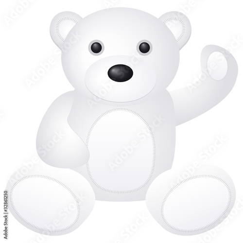 white teddy bear toy