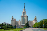 University in Moscow,  buildings of Stalin time. poster