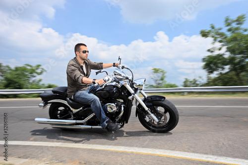 Fototapeten,mann,biker,motorrad,reitend