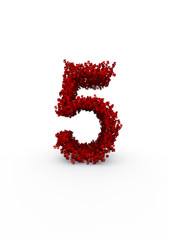 number 5 made of thousands of smaller ones easy to colorize