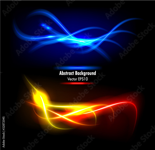 Color abstract glowing background