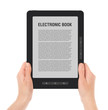 Holding Portable E-Book Reader with Clipping Path