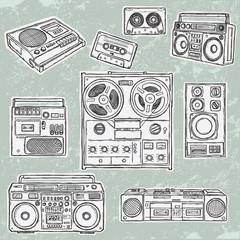 Retro musical equipment