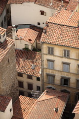 Florence view on roofs from the tower