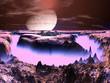 Futuristic Space Station on Alien World
