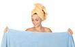 Beautiful girl with towel