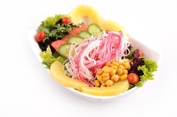 crab salad and veggies