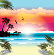 Tropical paradise.Vector illustration