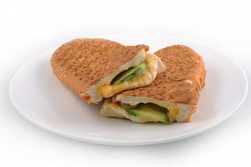 mozzarella Sandwich with Tomato cucumber & lettuce