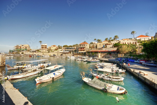 Small harbor, Byblos, Lebanon
