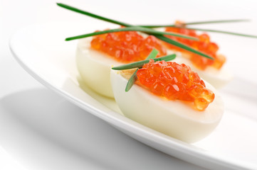 Appetizers with caviar