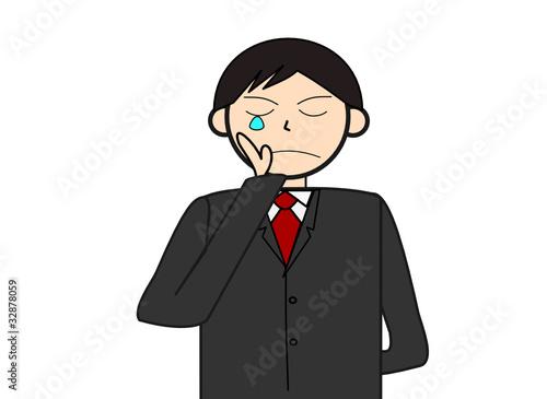 泣くビジネスマン
