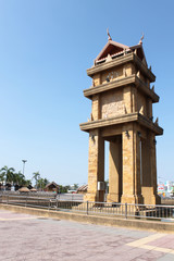 The beautiful clock tower in Thailand
