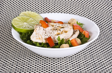 Chicken and vegetable  salad