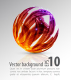 Fototapety abstract background. color sphere.