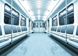 Fototapeta kolejowe - siedzenie - Metro