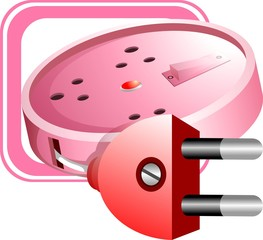 Illustration of code wire with connecting plug