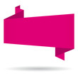 Pink origami banner