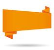 Orange origami banner