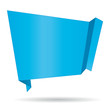Blue origami banner