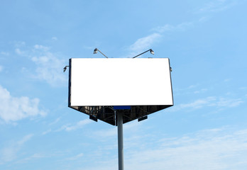 triangular big blank billboard outdoor