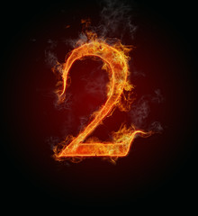 "Burning fire number ""2"""
