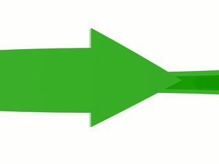 Freccia riciclo verde