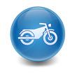 Esfera brillante simbolo motocicleta