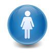 Esfera brillante simbolo mujer