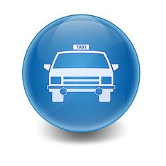 Esfera brillante simbolo taxi