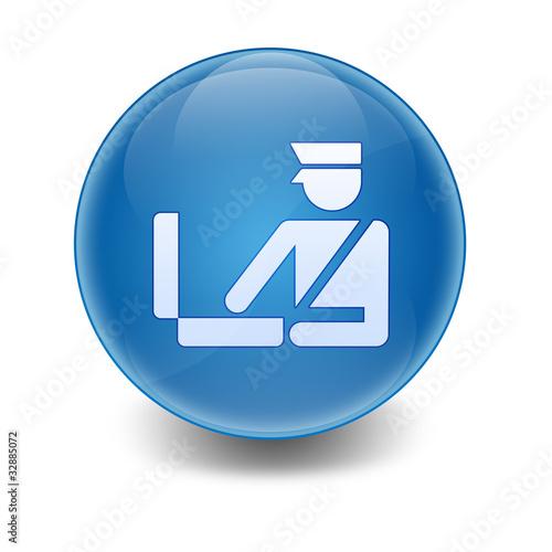 Esfera brillante simbolo revision equipaje