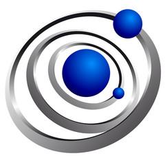 atomo, cerchio, orbita