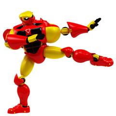 super robot karate pose