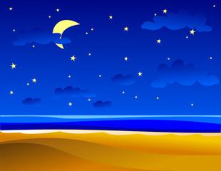 Notturno sul mare