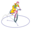 boy practicing bike stunts