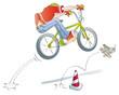 boy practicing jumps bike