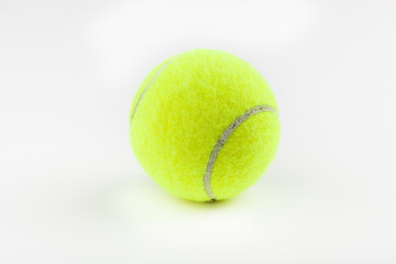 A yellow tennisball