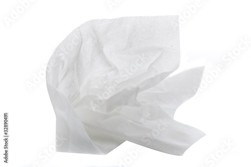A white tissue