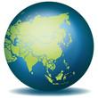 Weltkugel Weltkarte Landkarte Asien Karte 1