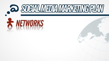 Social Media Marketing Plan video illustration on white in HD