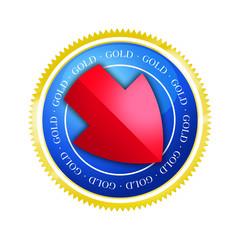 Button - Börse - Gold