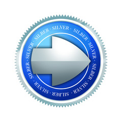Button - Börse - Silber