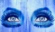 abstract blue eyes makeup woman grunge texture