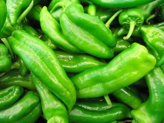 Pimientos verdes, green peppers.