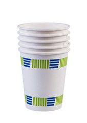 Paper cups isolated.