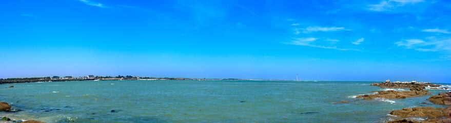 Panorama de baie de Normandie