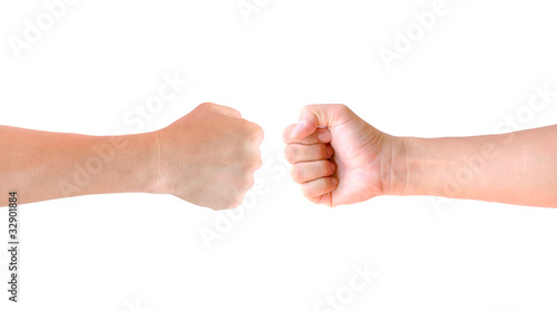 fist hand isolated