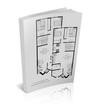 Libro  con planos de una vivienda